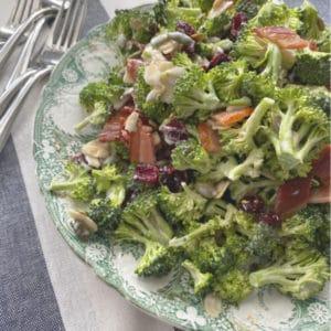 broccoli salad on serving platter