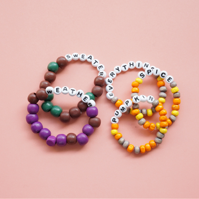fall quote bracelets craft project for tweens