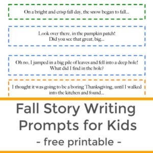 printable fall story writing prompts for kids