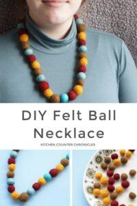 felt ball necklace DIY featured image