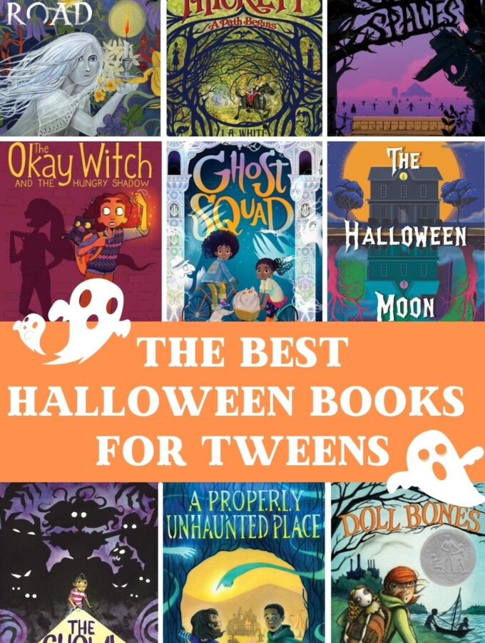best halloween books for tweens to read collage of books