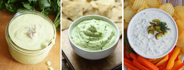 vegetable platter dip recipe collage
