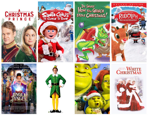 best christmas movies for families collage of movies
