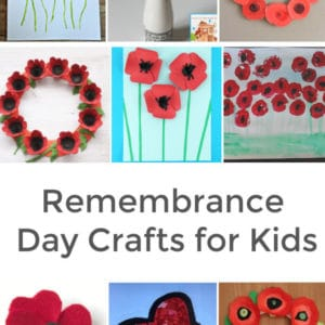 remembrance day crafts for kids to make collage of various poppy crafts