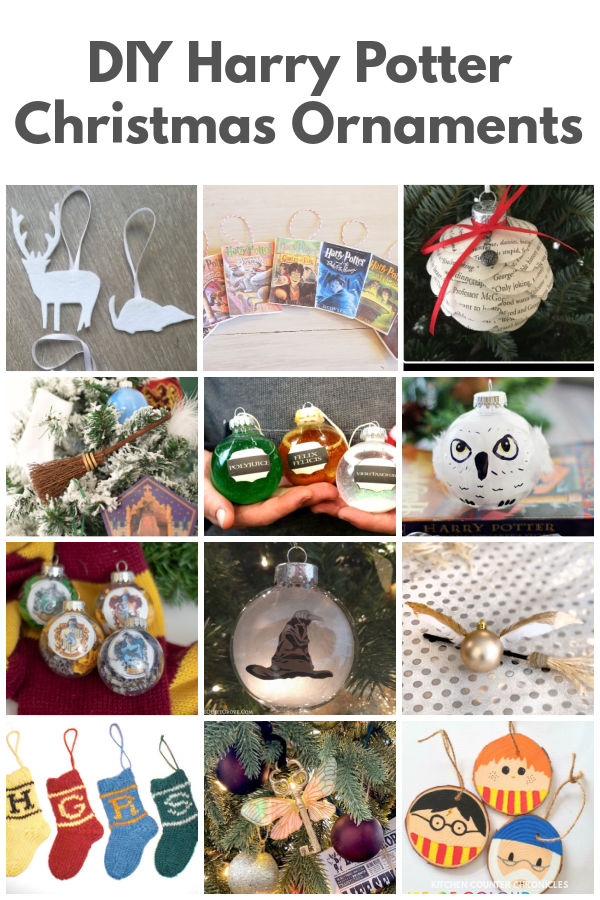 diy harry potter christmas ornaments collage of ornaments