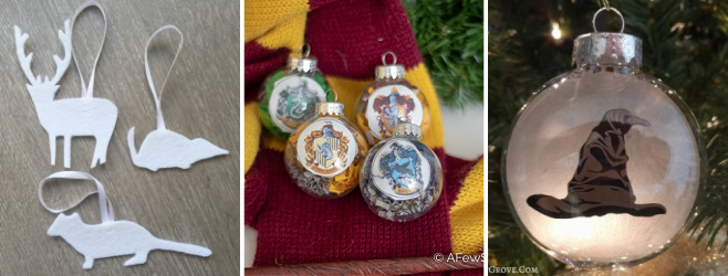 harry potter christmas ornaments to make collage of baubles