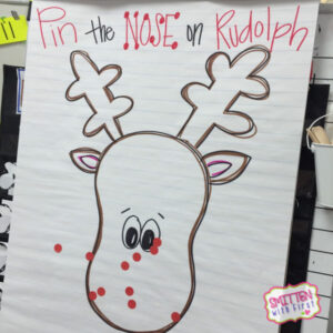 pin the nose on rudolph game picture of the game