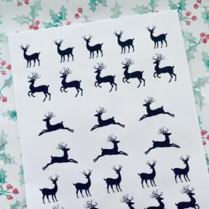 printable sheet of reindeer for hide and seek game