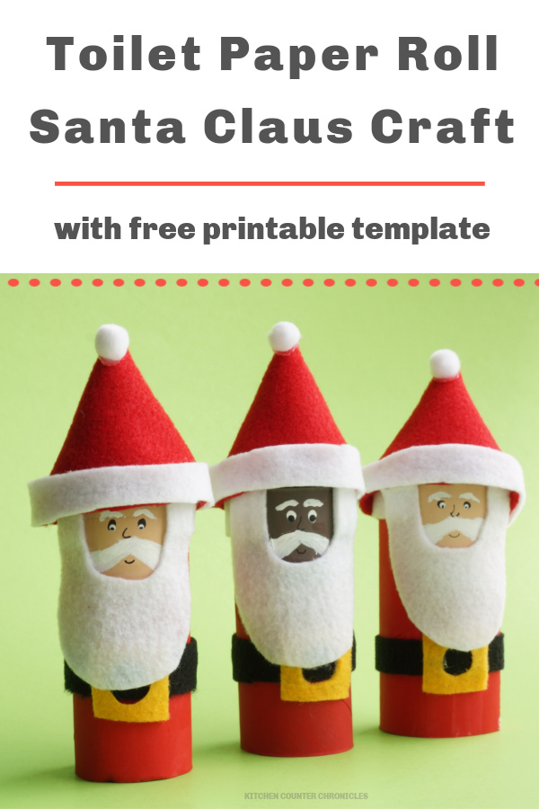 toilet paper roll santa claus craft image black santa and white santa