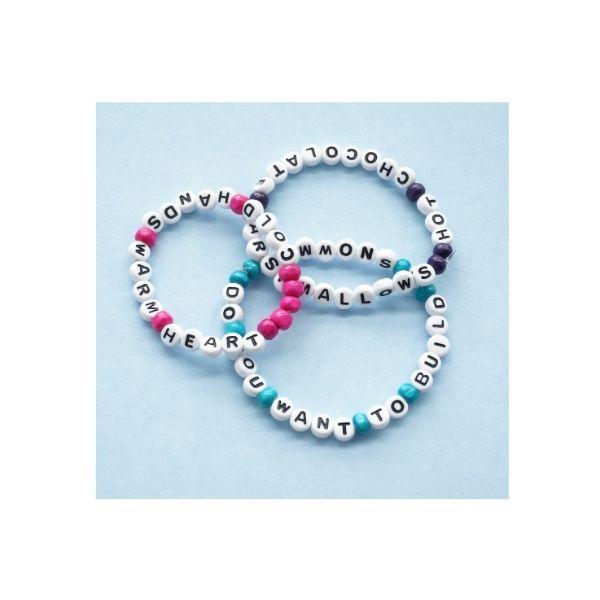 3 winter friendship bracelets piled up