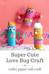 love bug toilet paper roll craft for kids valentine's day