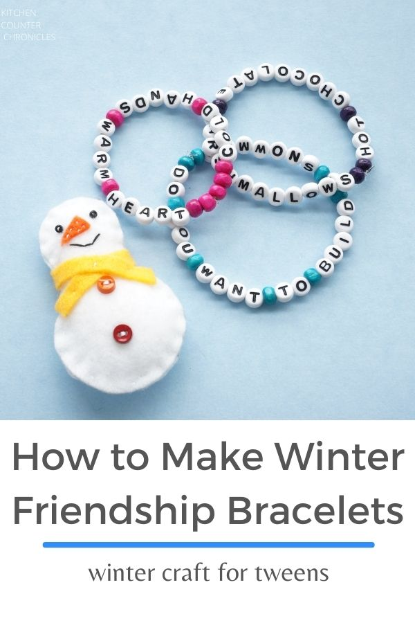 how to make winter friendship bracelets with felt snowman