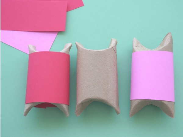 toilet paper roll boxes wrapped with pin paper