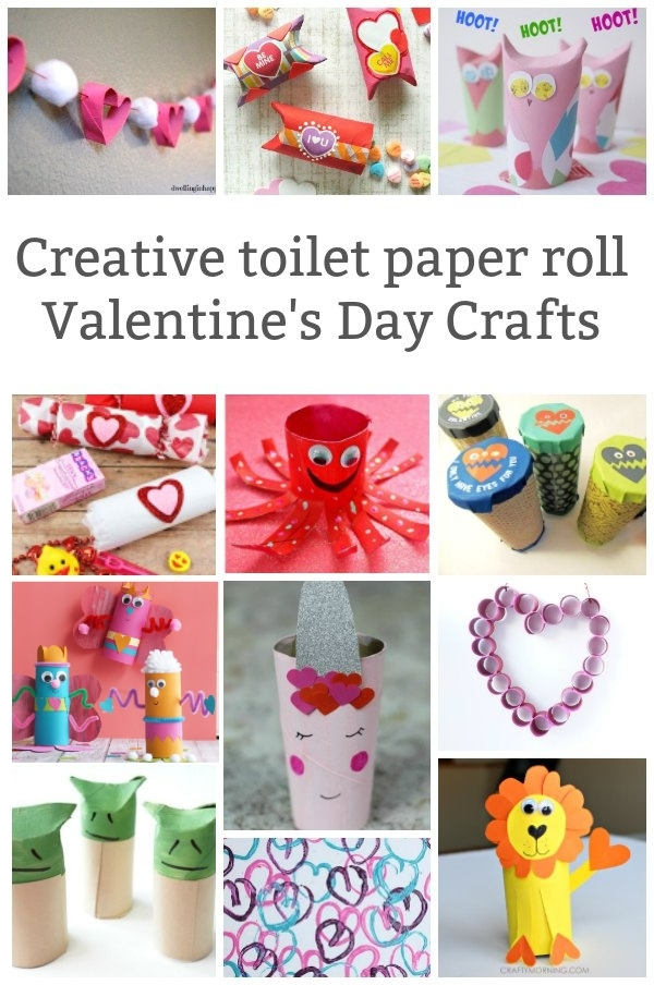 toilet paper roll valentines day crafts for kids collage of projects