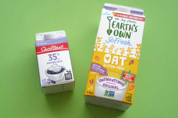 cleaned milk cartons for homemade bird feeder large and small
