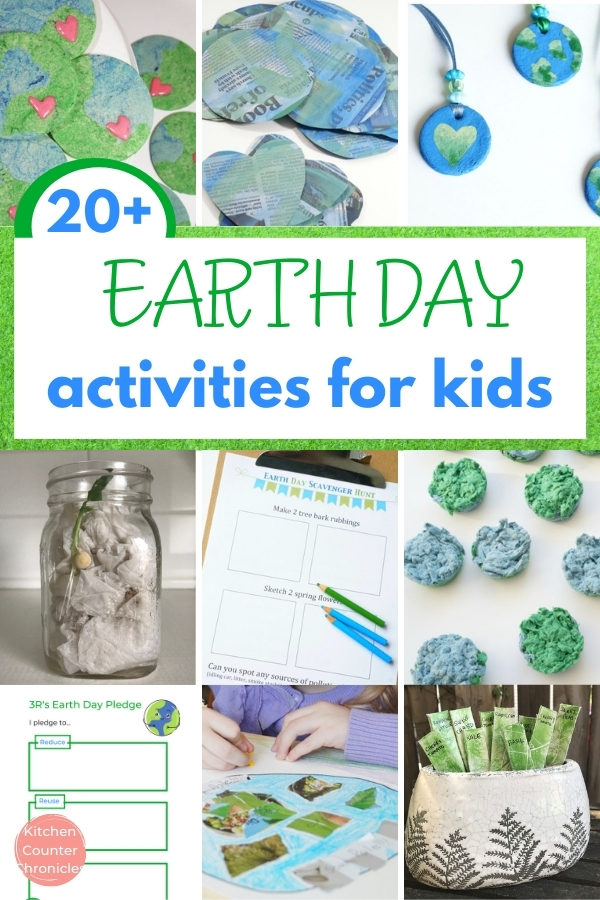 earth day activities for kids collage of activities