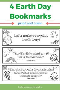 earth day printable bookmark title image