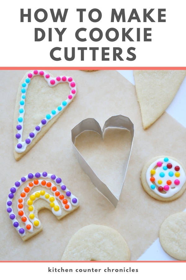 How to Make a Cookie Cutter at Home decorated cookies on a table
