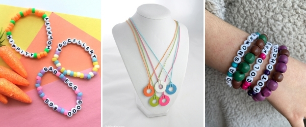 collage of crafts to make for friends washer necklace friendship bracelets