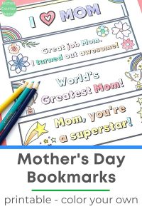 mothers day craft for kids printable mothers day bookmarks to colour