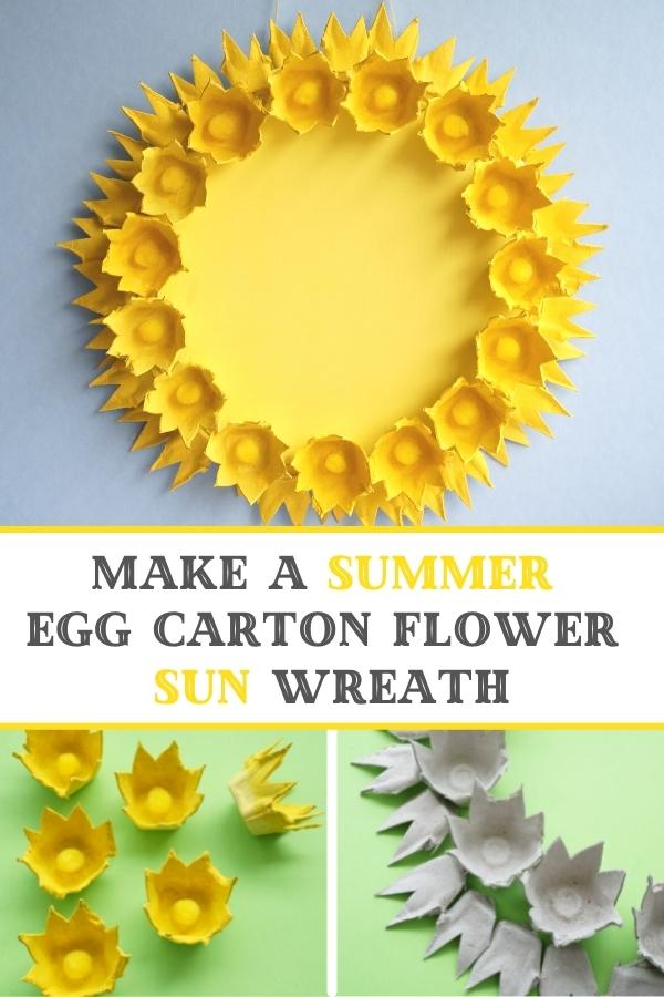 how to make egg carton summer wreath collage