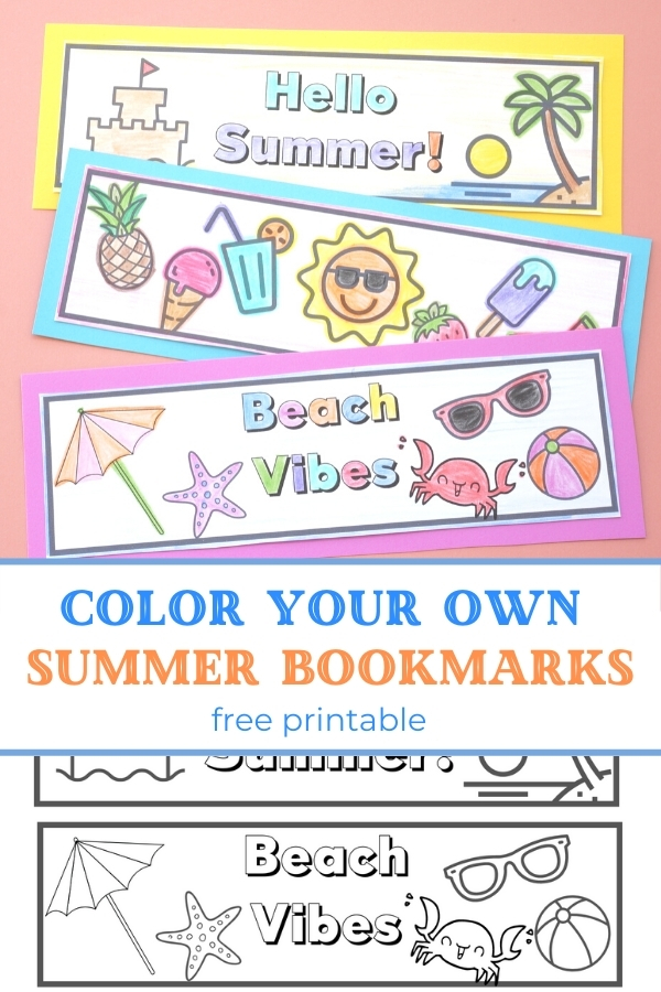 printable coloring bookmarks for kids printed out and coloured