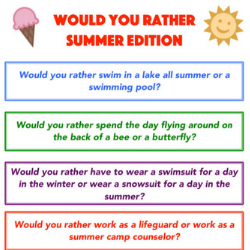 popular post image of summer would you rather questions