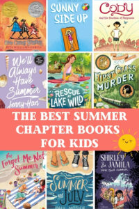 great summer chapter books for kids collage of book covers