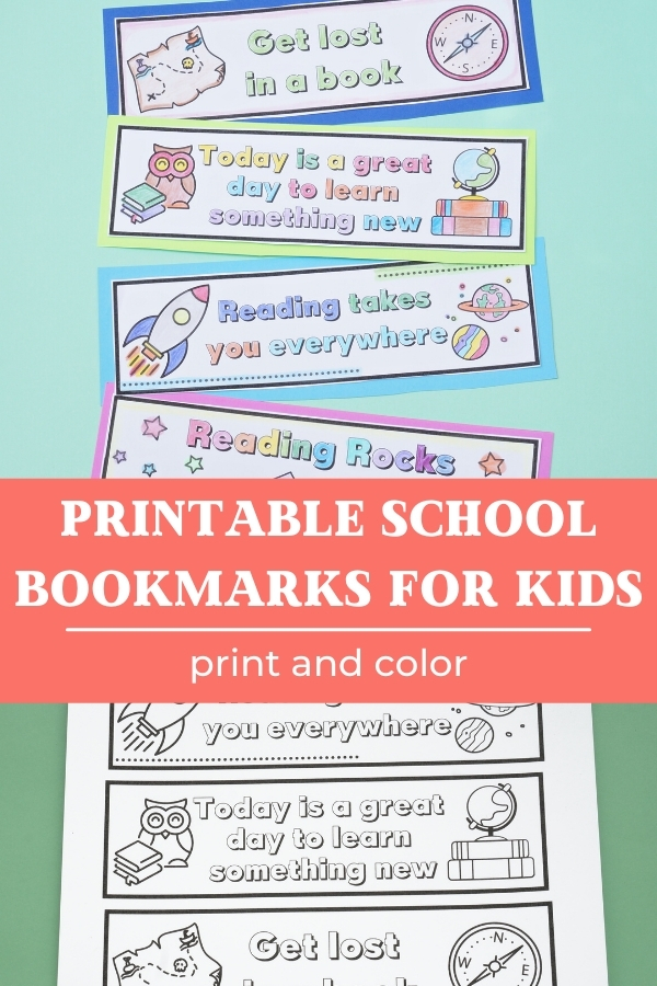 printable student bookmarks to color with title