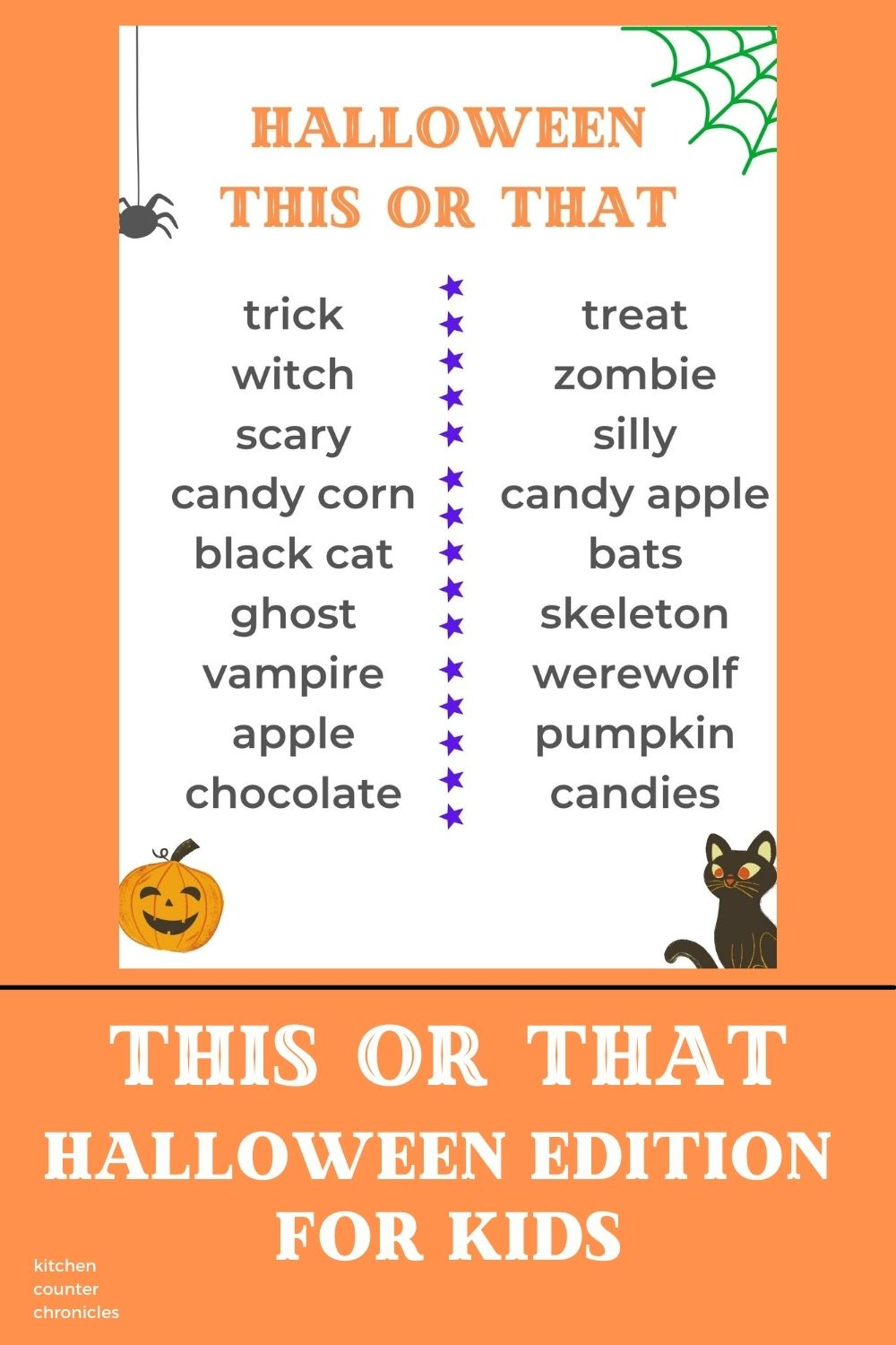This or That Halloween Edition for Kids
