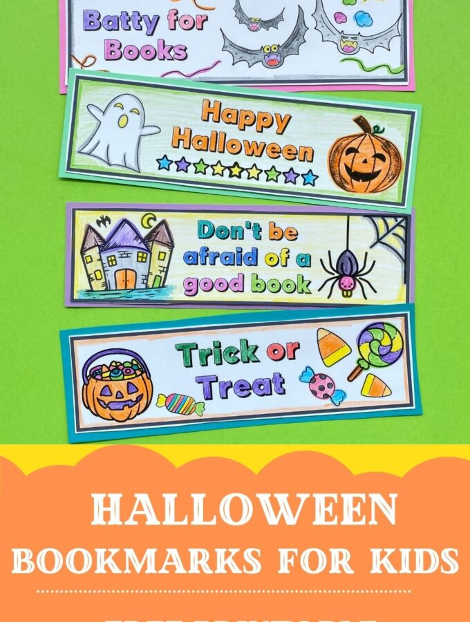 free printable halloween bookmarks for kids to colour
